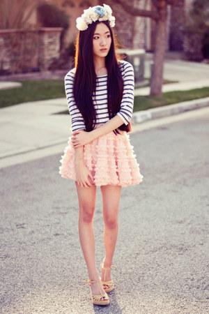 petticoat Chicwish skirt - striped lucca couture top