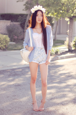 chiffon ianywear jacket - yeswalker bag - paisley Motel Rocks shorts