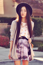 Satin-blazer-honeymoonmuse-jacket-wide-brim-oasap-hat