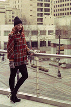 Plaid Flannel Fringe Coat