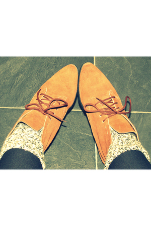 brown preston market boots - gray next socks