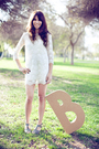 White-forver21-dress-gray-shoes