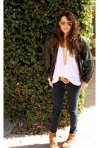 JBrand jeans - vintage belt - brown Forever 21 sunglasses