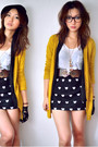 Mustard-gmarket-korea-cardigan-black-gmarket-korea-skirt-white-gmarket-korea