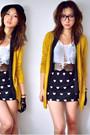 Mustard-gmarket-korea-cardigan-black-gmarket-korea-skirt-white-gmarket-korea