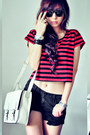 Off-white-bag-black-shorts-red-t-shirt-silver-ring