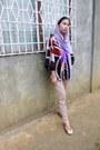 Brown-jeans-jeans-feather-necklace-violet-sandal-untitled-sandals