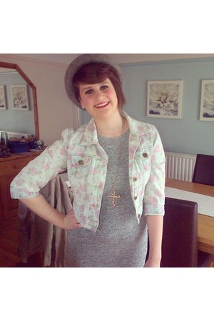 Topshop dress - Topshop hat - mis selfridge jacket - Topshop necklace