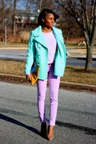 aquamarine Old Navy coat - periwinkle Old Navy pants