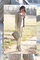 army green H&M jacket - tan H&M pants