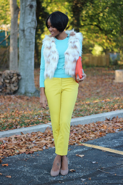 aquamarine Gap sweater - yellow H&M pants