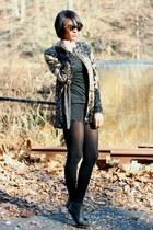 black vintage blazer - black MaisonMartinMargiela x H&M boots