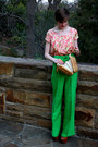 Light-brown-basket-thrifted-purse-tawny-platform-jessica-simpson-heels-green