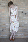 White-floral-thrifted-dress-light-brown-braided-thrifted-belt-light-brown-je