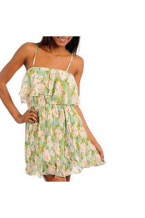 mint dress Banana USA dress