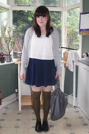 Forever 21 socks - Marks and Sparks skirt - Topshop top