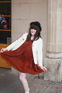 Tba-dress-h-m-hat-vintage-jacket