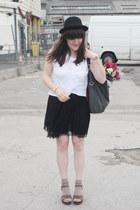 H&M hat - vintage shoes - vintage skirt