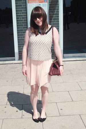Topshop dress - Primark shoes - vin bag - Topshop top
