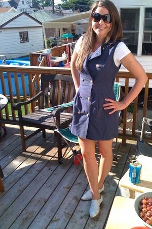 forever 21 dress - H&M t-shirt - vintage boots - Target sunglasses