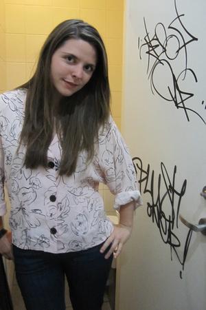 blouse - Levis jeans -