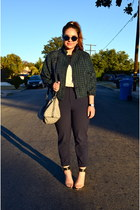 houndstooth American Apparel jacket - Louis Vuitton bag - H&M pants