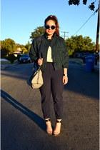 houndstooth American Apparel jacket - Louis Vuitton bag - H&M pants