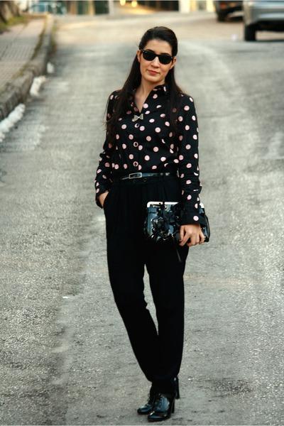 black Karaca shoes - black H&M shirt - black Mango bag - silver unbranded access