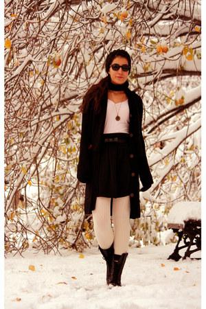 black Levis cardigan - black Koton skirt - light pink H&M blouse - cream penti t
