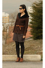 Bronze-derimod-shoes-bronze-topshop-belt-dark-brown-grandma-cardigan-dark