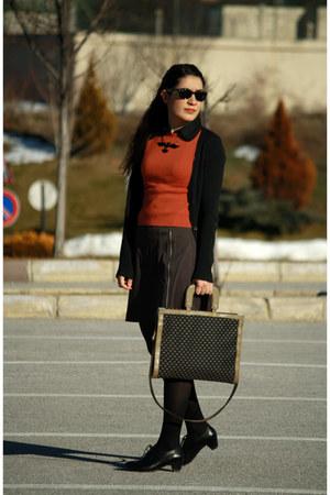 black beta shoes - burnt orange ipekyol sweater - black Tally Weijl shirt - dark