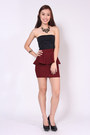 Peplum-wine-red-luvenuecom-skirt