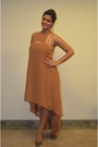 Light-orange-asoscom-dress-gold-jimmy-choo-heels