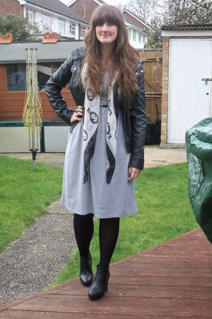 Topshop boots - Primark dress - Topshop jacket