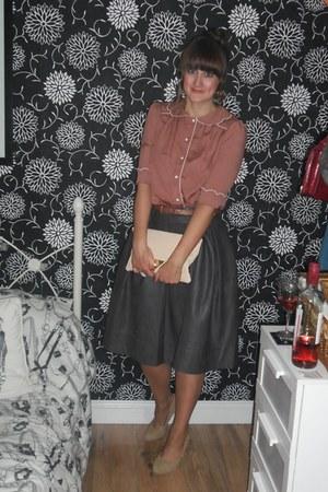 Primark blouse - asos bag - Primark heels - Primark skirt