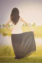 chiffon skirt - lace top