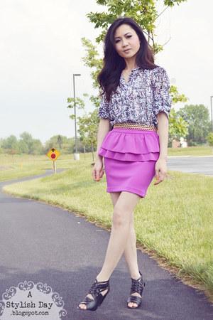 Peplum skirt - Target shoes