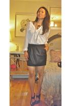 Forever 21 skirt - DIY Alexander Wang shirt - alaia boots