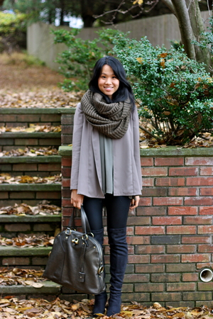 brown Zara blouse - black Zara boots - black oxy leggings Kova &amp; T leggings
