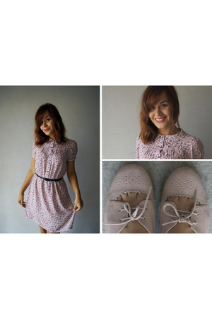 light pink lace up oxfords new look shoes - light pink Incity dress