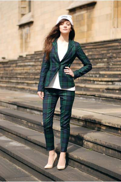 check Zara blazer - checked Zara pants