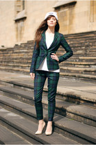 check Zara blazer - checked Zara pants
