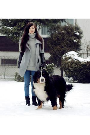 cotton Zara coat - heather gray wool shein jumper
