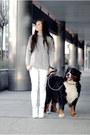 Silver-wool-sheinside-sweater-white-jeans-zara-pants
