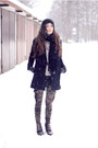 Black-minimal-choies-coat-army-mango-pants-heather-gray-boy-romwe-blouse