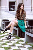 chiffon Zara skirt - H&M shirt