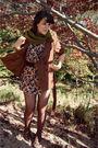 Black-vintage-dress-green-target-scarf-brown-forever-21-coat-brown-modclot