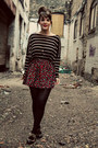 Black-zara-top-ruby-red-urban-outfitters-skirt-beige-lulus-heels