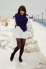 Blue-threadsence-cardigan-black-thrifted-top-white-zara-skirt-black-foreve