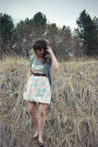 White-modcloth-dress-brown-urban-outfitters-shoes-brown-forever-21-belt-gr